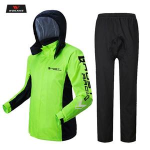 WOSAWE Yağmurluk Motosiklet Rider Yağmurluk Ceket Pantolon Set Geçirimsiz Dayanıklı Yetişkin Yağmur Dişli Balıkçılık Motosiklet Rainsuit