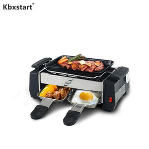 Kbxstart 220V Accueil Couple sans fumée électrique Barbecue étudiant Mini Teppanyaki petite machine Barbecue