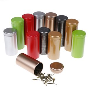 Tea Caddy Mini Aluminum Storage Boxes Sealed Coffee Powder Cans Tea Leaves Container Portable Travel Tea Caddy Organizer