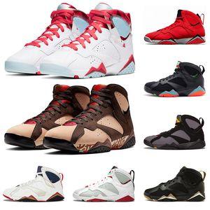 2020 nike air jordan 7 neue jumpman 7 Topaz Mist 7s Patta X Icicle Herren-Basketball-Schuhe Raptro Reflective ein Champion Bordeaux GMP Designer Sport Sneakers