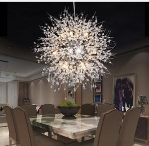 ندفة الثلج كريستال الثريا الحديثة الشمال نمط LED مصباح الإبداعية الشخصية كريستال نموذج الغلاف الجوي قلادة ضوء الثابت
