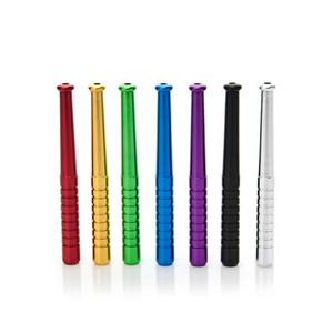 Мини-металлическая труба для бейсбольных курительных трубок портативные алюминиевые травяные аксессуары для труб красочные цвета WX9-1429