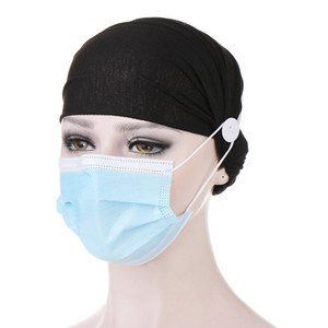 Ears Protection Cotton Headband Button for Wearing Masks Hair Accessories For Women Girls Bandana Outdoor Sport Hairbands