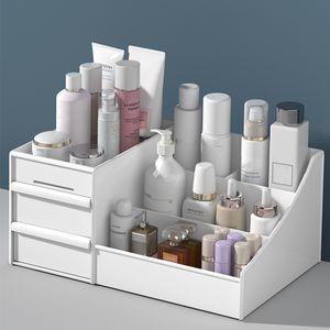 Grande capacité cosmétiques boîte de rangement maquillage Drawer Organizer Bijoux Ongles polonais Container Bureau Mêle Boîte de rangement Y200111