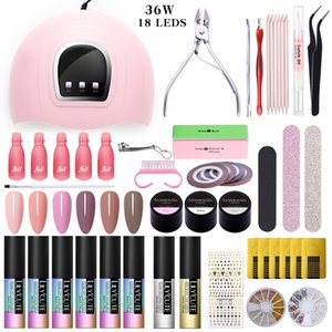 LILYCUTE Nail Set UV LED Lamp Dryer With 18Pcs LEDs Nail Gel Polish Kit Soak Off Gel Electric Drill For For Tools