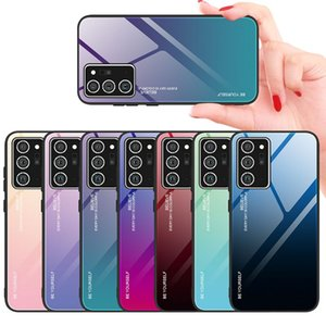 phone case for iPhone 12 Luxury Gradient Tempered Glass+TPU For iPhone 12 Pro Max Cover Shockproof Protective For iPhone 12 Pro