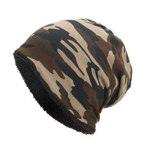 2019 Fashion Women Men Baggy Camouflage Crochet Winter Wool Ski Beanie Caps Hat Skull Slouchy Caps Green Dance