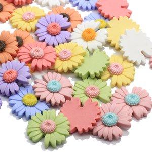 Mixta Pastel de girasol de la resina Cabochon margarita manera de la flor de Flatback Cabochon Scrapbooking adornos fabricación de la joyería DIY Decoración