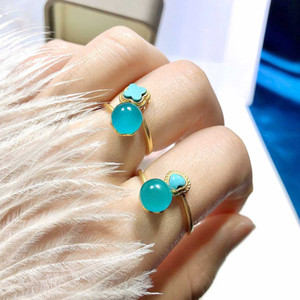 Hot Selling Beautiful Antique Frosted Finish in Solid 925 Sterling Silver Natural Amazonite Women's Ring For Gift