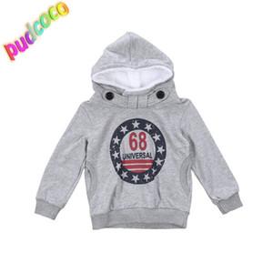 2019 Kleinkind-Kind-Junge-warme Jacken Hoodies Snowsuit Mantel-Kleidung Pullover 2-7Y