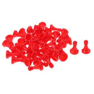 50 Pezzi degli scacchi Pezzi Tabella gioco da tavolo Backgammon Gioco da Tavolo pezzi set