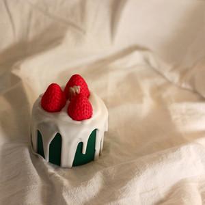 مصمم الوظائف الفراولة التوت الحلوى هدية المعطرة شمعة كعكة عيد ميلاد عيد الحب الصديقات اطلاق النار الدعائم الديكور فكرة