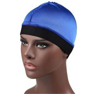 Silky Dome Cap perruque extensible large bande Casquettes Casque cycliste Liner Bonnet Turban hommes accessoires pour cheveux