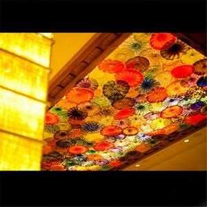 Türkiye Renkli Murano Cam LED Aplik Şık Cam 2020 Duvar lambası aydınlatması Türk Murano Flower Monteli
