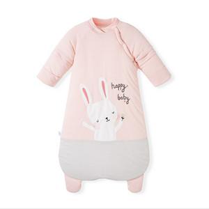 Neugeborenes Baby-Schlafsack-Jungen-Mädchen-Herbst-Winter-Schlafsack verdicken Warm 2019 NEW Cotton Decken Wearable für 0-18 M