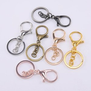 Key Ring 30mm Keychain 70mm Lobster Clasp Key Hook Keyrings For Jewelry Making Finding Key Chains Accessories