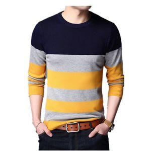 FGKKS Uomo Marca Slim Fit Maglione 2018 Inverno Uomo Patchwork Casual Maglioni Pullover Mens manica lunga maglione caldo Top maschile