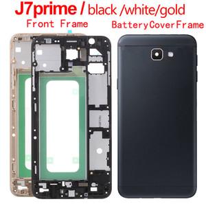 Frame Front-Gehäuse für Samsung Galaxy J7 Prime ON7 (2016) G610 G610F Ersatzteil Zurück Batterie-Abdeckung Glasgehäuse