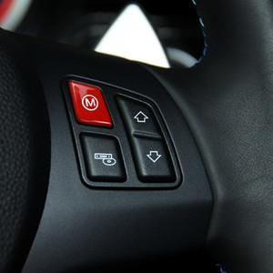 Araç İç Dekorasyon ABS Plastik 2 ADET Araç Direksiyon - BMW E92 için Mod Düğmesi Kapak Kırmızı M1 M2