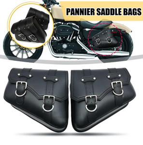 1 пар Черный Мотоцикл седельные Бросьте нижнюю сторона сиденья инструментов сумки для Harley Davidson Cruiser мотоциклов