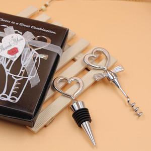 Prost zu einer Großen Kombination Weinflasche Korkenzieher und Stopper Sets Hochzeit souvenirs kostenloser Versand LX1497