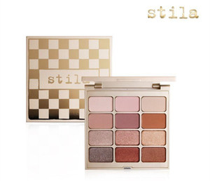 Dropshipping (en la acción) de la venta caliente Stila Cosmetics Mate N metal gama de colores 12 del maquillaje del color de sombra de ojos en polvo pigmentado!