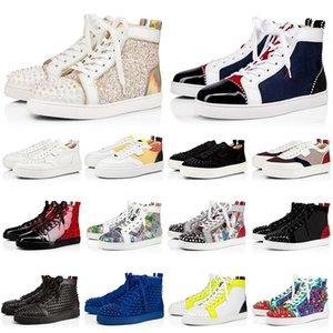 2020 NEW красных днищ мужских ботинок HappyRui спайки мужчины женщина Chaussures мода тренеры повседневной обувь 36-47 с BOX
