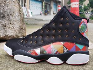 Yeni Varış CNY Çin Yeni Yıl Jumpman 13 S Erkekler Basketbol Ayakkabı 13 Siyah Yelken-Metalik Altın-Gerçek Kırmızı Atletik Spor Sneakers