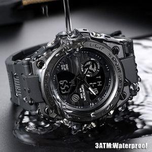 2019 más nuevos del deporte del reloj impermeable de múltiples funciones deportes al aire libre de los hombres de los hombres del reloj digital del reloj de la alta calidad del envío