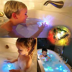 아기 유아의 욕조 내구성 부동 장난감 목욕 물 LED 조명 키즈 어린이 휴대용 손전등 목욕 LED 빛 장난감 파티