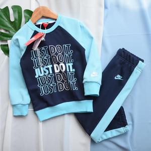 فساتين طفل بنين 3-13 سنوات بنات بدلة رياضية العلامة التجارية 2 أطفال مجموعة ملابس الساخن بيع أزياء الربيع الخريف الأطفال كم طويل سترة