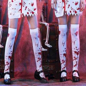 2019 Hot ventes Halloween Party Les femmes saignent Effrayant ou Skeleton Bas Collants travail Costumes Cosplay femmes Bonneterie de gros