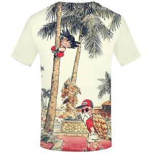 Bola de dragon camiseta 3d camiseta animado camiseta de los hombres camisetas divertidas del Hip Hop 2017 para hombre japonés Ropa Vintage Clothing
