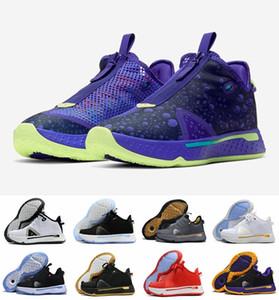 높은 품질의 새로운 PG 사 게토레이 NASA 폴 조지 농구 스포츠 신발 정 IV 줌 GX 블랙 화이트 남성 스니커즈 7-12