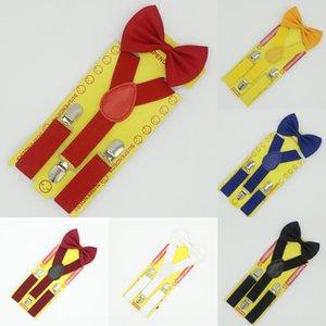 Boys' kids' trousers belt boys' girls' straps children's belt clip bow tie performance suit elastic band Butterfly elastic band