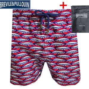 Vilebrequin мужские пляжные шорты пляжные брюки марки 090 осьминога Морская звезда Черепаха печати Купальники мужской бордшортов Новый стиль быстрой сушки