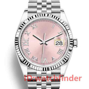 36mm Luxury Fashion Rose Dorées automatique mécanique Bracelet JUBILÉ Designer Femmes Mesdames Hommes Diamond Watch Montres-bracelets
