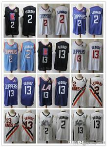 Mens Los AngelesClippersMen Paul 13 George Basketball Shorts Kawhi 2lanba Leonard Basketball Jersey black navy white