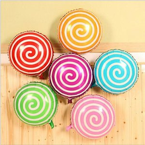 Party 18 Inches Lollipops-shaped Cartoon Balloons Candy Color Aluminum Foil Balloon Toys Birthday Party Wedding Party Supplies New