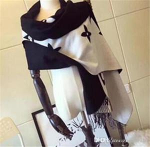 Inverno nuova sciarpa di cachemire degli uomini del progettista di e classica doppia usura calda coperta di cotone sciarpa di cachemire moda femminile sciarpa 190 centimetri * 70