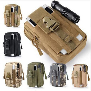 Outdoor Tactical Holster Military Waist Belt Bag Sport Running Mobile Phone Case Cover Molle Pack Purse Pouch Wallet with Zipper for iphone