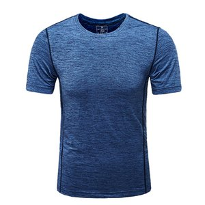 men's short-sleeved t shirt 2020 summer new fast dry clothes and fat big fat men's trend sports men's half-sleeved