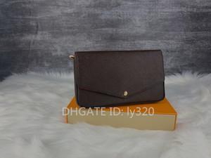 Mulher saco da bolsa Original Data caixa de sapatos da moda código atacado verificador xadrez flores óculos que prende o saco L estilo clássico bolsa nova