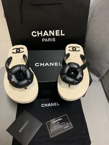 Популярные бренды Женские пляжные сандалии с коробками Тапочки мужские Белый пляж моды рукавов обувь