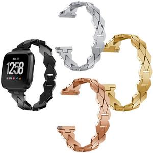 Di lusso di orologi in metallo cinturino Per Fitbit Versa Lite intelligente Bande di ricambio confortevole donne del diamante della vigilanza della fascia Wristband di trasporto