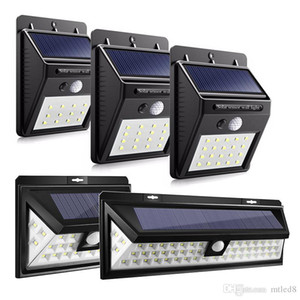 12 16 20 24 54 LEDs LED Solar Power PIR Motion Sensor Wall Light Outdoor Waterproof Energy Saving Street Garden Security Lamp
