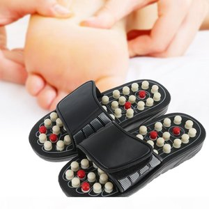 Foot Massage Slippers Acupuncture Therapy Massager Shoes For legs Acupoint Activating Reflexology Feet Care massageador Sandal Polka-dot AB