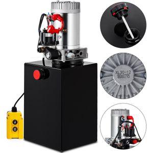 12 Quart Double Acting Hydraulic Pump Dump Trailer Unloading Repair Iron DC Double Acting Hydraulic Pump Power Metal Reservoir