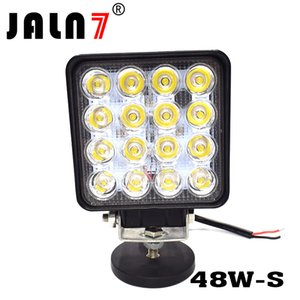 48w LED Spot Beam Lights Square Off-Road Bulb lamp Light Fog Lighting Jeep Cabin Boat SUV Truck Car ATV Vehicles automative