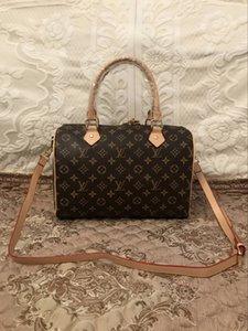 Speedy designer handbags Fashion Women Bag PU Leather bostson 30cm L flower women handbags fashion totes ladies bag